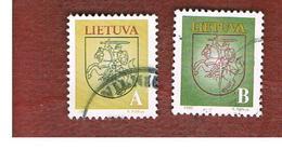 LITUANIA (LITHUANIA)   - SG 536.537  -        1993 STATE ARMS  (COMPLET SET OF 2) -   USED - Lituania