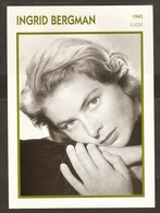 PORTRAIT DE STAR 1945 SUEDE SWEDEN - ACTRICE INGRID BERGMAN - ACTRESS CINEMA - Fotos