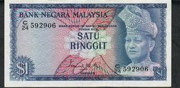MALAYSIA P1 1 RINGGIT  1967 #C Signature 1     AU - Malaysia