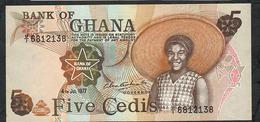 GHANA P15e 5 CEDIS 4.7.1977 #U/1  AU-UNC. - Ghana