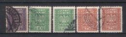 POLEN Yt. 346/348° Gestempeld 1928-1929 - 1919-1939 Republic
