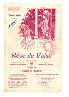 PARTITION REVE DE VALSE XANROT ET CHANCEL / OSCAR STRAUS  DESSIN DE CLERICE - Partitions Musicales Anciennes