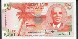 MALAWI P24a 5 KWACHA 1990 # AY UNC. - Malawi