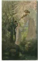 E.B. MAGDIC SIGNED 1910s POSTCARD - CHANSON DE PRINTEMPS - F.H.& S. W. IX - Nr. 213 (BG312) - Künstlerkarten
