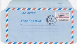 FRANCE - AEROGRAMME 3.30 CONCORDE SURVOLANT PARIS - 17.2.1984 CLERMONT FERRAND 63  / 3 - Ganzsachen