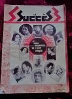 """1931"""" LE SUCCÈS """"LES INTERPRÈTES ART LYRIQUE THÉÂTRE SPECTACLES PROGRAMME-CONCERT  LETTRE-ART-SPORT-MODE PUB- D-8 DELAGE - Programmes"""