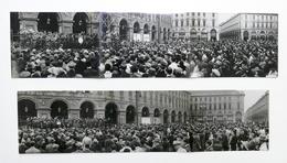 Lotto 2 Fotografie Banda Municipale Di Torino In Piazza S. Carlo 25 Ottobre 1942 - Foto