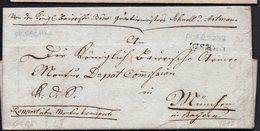 RARE PREPHILATELY ENVELOPE LETTER GERMANY VORPHILA 1812. DRESDEN MÜNCHEN - [1] ...-1849 Prephilately
