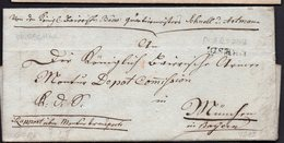 RARE PREPHILATELY ENVELOPE LETTER GERMANY VORPHILA 1812. DRESDEN MÜNCHEN - [1] Prefilatelia