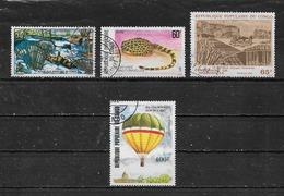 CONGO - BRAZZAVILLE  Yvert  N° 383-484-596 Et PA 311  Oblitérés - Congo - Brazzaville