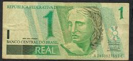 BRAZIL P251 1 REAL 2003 #A/C Signature 27 FINE NO P.h. - Brazil