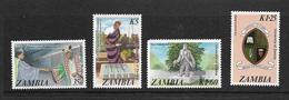 ZAMBIE 1987 INDEPENDANCE  YVERT N°368/71 NEUF MNH** - Zambie (1965-...)