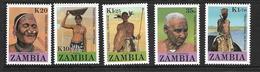 ZAMBIE 1987 HERITAGE CULTUREL  YVERT N°424/28 NEUF MNH** - Zambie (1965-...)