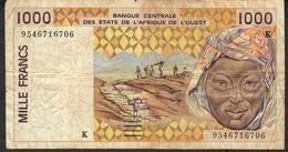 SENEGAL W.A.S. P711Ke 1000 FRANCS (19)95 1995 FINE NO P.h. - Senegal