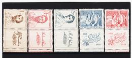 Post317 TSCHECHOSLOWAKEI CSSR 1946 MICHL 546/48 + 550/51 Zf ** Postfrisch SIEHE ABBILDUNG - Tschechoslowakei/CSSR
