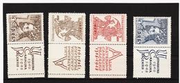 Post318 TSCHECHOSLOWAKEI CSSR 1946 MICHL 535/38 Zf ** Postfrisch SIEHE ABBILDUNG - Tschechoslowakei/CSSR