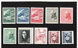 Post319 TSCHECHOSLOWAKEI CSSR 1947 MICHL 512/22 ** Postfrisch SIEHE ABBILDUNG - Tschechoslowakei/CSSR