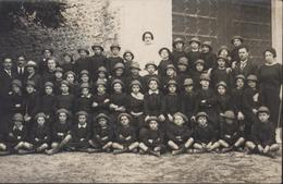 CPA Carte Photo Sancerre Cher 1921 Colonie De St Saint Denis à Sancerre Henri 9 Ans - Sancerre