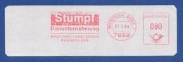 BRD ASF - RHEINFELDEN, Stumpf Bauunternehmung - Bruchsal Karlsruhe Rheinfelden 31.1.84 - BRD