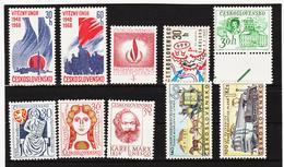 Post304 TSCHECHOSLOWAKEI CSSR 1968 MICHL 1770/77 + 1806/07 ** Postfrisch SIEHE ABBILDUNG - Tschechoslowakei/CSSR