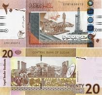 SUDAN       20 Sudanese Pounds       P-74[d1]       3.2017       UNC  [small Size Arabic Date] - Sudan
