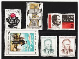 Post306 TSCHECHOSLOWAKEI CSSR 1967 MICHL 1715/18 + 1753/54 ** Postfrisch SIEHE ABBILDUNG - Tschechoslowakei/CSSR
