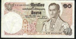 THAILAND P83h 10 BAHT 1969 #9C Signature 48 VF NO P.h. - Thailand