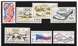 Post307 TSCHECHOSLOWAKEI CSSR 1968 MICHL 1762/66 + 1829/30 ** Postfrisch SIEHE ABBILDUNG - Tschechoslowakei/CSSR