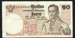 THAILAND P83i 10 BAHT 1969 #2H Signature 49 VF NO P.h. - Thailand