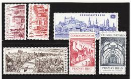 Post309 TSCHECHOSLOWAKEI CSSR 1967 MICHL 1677/80 + 1705/06 ** Postfrisch SIEHE ABBILDUNG - Tschechoslowakei/CSSR