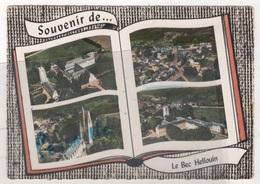 27 EURE - CP COLORISEE 4 VUES EN AVION AU DESSUS DE ... SOUVENIR DE ... LE BEC HELLOUIN - EDITION LAPIE N° 115 - 1969 - Altri Comuni