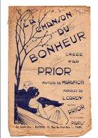 PARTITION LA CHANSON DU BONHEUR L. CARDY / MARAFIOTI  DESSIN DE VERDY - Partitions Musicales Anciennes