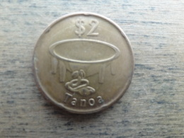 Fidji  2 Dollars  2014  Km !!! - Fidji