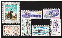 Post310 TSCHECHOSLOWAKEI CSSR 1967 MICHL 1701/04 + 1718/20 ** Postfrisch SIEHE ABBILDUNG - Tschechoslowakei/CSSR