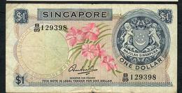 SINGAPORE P1c 1 DOLLAR 1967 #B/89 FINENO P.h. - Singapore