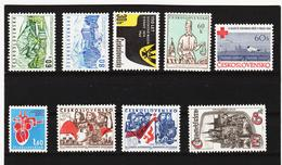 Post311 TSCHECHOSLOWAKEI CSSR 1964 MICHL 1457/58 + 1478/798 + 1481/84 + 86 ** Postfrisch SIEHE ABBILDUNG - Tschechoslowakei/CSSR