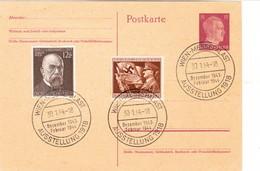 III. Reich, Postkarte, Stempel : Wien - Messepalast 1944 - Briefe U. Dokumente