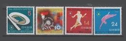 Japon Japan 1958 Yvert 603/606 ** 3è Jeux Sportifs Asiatiques - 1926-89 Empereur Hirohito (Ere Showa)
