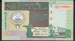 KUWAIT P24f 1/2 DINAR 1968 # BE/110 Signature 13 UNC. - Kuwait