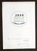 Collezionismo Farmaceutica - Calendario Carlo Erba - Centenario 1853 - 1953 - Calendari
