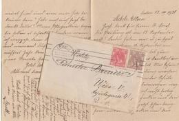 V1 -NEDERLAND 1920 - 5 + 7,5 C Auf Brief Mit Inhalt, Gel. Leiden > Wien VI - Briefe U. Dokumente