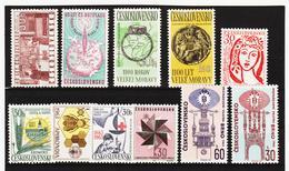 Post312 TSCHECHOSLOWAKEI CSSR 1963 MICHL 1403/04 + 1407/12 + 1415/17 ** Postfrisch SIEHE ABBILDUNG - Tschechoslowakei/CSSR