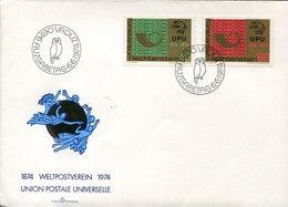 44949 Liechtenstein, Fdc  1974 UPU, Showing  Eule, Owl Hibou - Hiboux & Chouettes