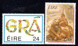 Ireland 1989 Greetings Stamps Set Of 2, MNH, SG 712/3 - 1949-... République D'Irlande