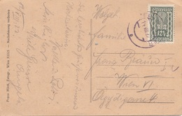 V1 - ÖSTERREICH 1922 - 12,5 Kronen Auf Ak ZELL AM ZILLER, Gel. Zell ... > Wien VI - Briefe U. Dokumente