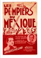 PARTITION LES POMPIERS DU MEXIQUE LOUIS GASTé ET PIERRE GUITTON / LOUIS GASTé - Partitions Musicales Anciennes
