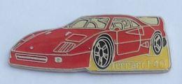 V456 Pin's FERRARI F40 Long 35 Mm Achat Immediat - Ferrari