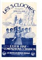 PARTITION LES 3 CLOCHES JEAN VILLARD - Partitions Musicales Anciennes