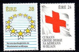 Ireland 1989 Anniversaries & Events Set Of 2, MNH, SG 724/5 - 1949-... République D'Irlande