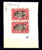 1910  Congo Belge, Mols Et Van Engelen, 55 En Paire Oblitération Kigoma - 1894-1923 Mols: Oblitérés